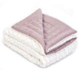 legetæppe, rosa tæppe, quiltet tæppe