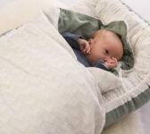 grøn nest + sengetøj 1